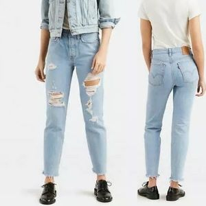 Levi's Wedgie Distressed Jeans High Rise